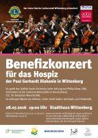 """Plakat für das Benefizkonzert """"Ein Hospiz in Wittenberg"""""""
