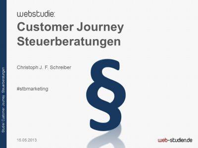 Studie Customer Journey Steuerberatungen
