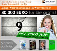 TradeButler feiert Geburtstag und verschenkt eine 80.000 Euro Werbekampagne