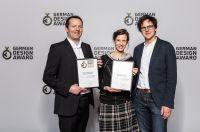 Die Preisträger des German Design Award v.l.n.r: Thorsten Winternheimer, Lena Weissweiler, Simon Wehr
