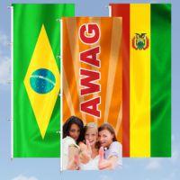 Auffällig und effektiv für jeden Anlass - Werbefahnen von AWAG
