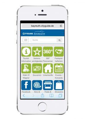 Der Bayreuth CITYGUIDE liefert wichtige Adressen für Freizeit und Shopping - als Webapp unter bayreuth.cityguide.de