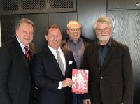 Foto von links: Roland Berlinger (WEMID), WEMID Präsident Marco Altinger, BdSt Vizepräsident Michael Jäger und BdSt Präsident Rolf