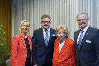 CDU-Landtagskandidatin Stefanie Schorn, CDU-Spitzenkandidat Guido Wolf, Firmengründerin Ursula Ida Lapp und Aufsichtsratsvorsitzen