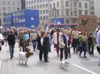Am 1.9.2012 demonstrieren Hundefreunde in Hamburg für ein tier- und bürgerfreundliches Hundegesetz.
