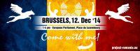 Demonstration gegen die Hundetötungen in Rumänien, vor dem europäischen Parlament in Brüssel am 12. Dezember 2014