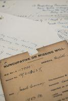 Originaltestament eines britischen Soldaten aus dem Ersten Weltkrieg