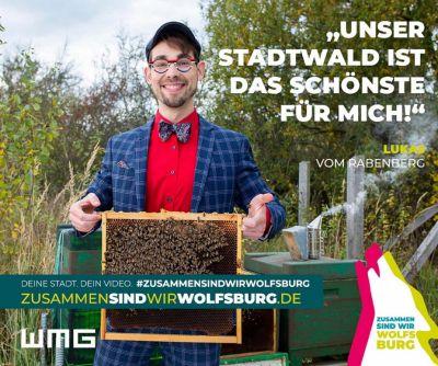 """Motiv der Kampagne """"Zusammen sind wir Wolfsburg"""" (© WMG Wolfsburg)"""