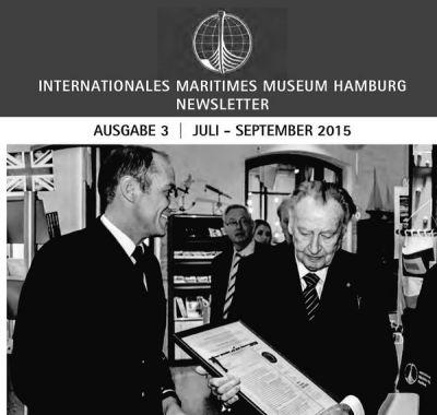 Professor Peter Tamm sen. nimmt offiziell die New Waterloo Dispatch Depesche von Jochen Werne (GOST) im IMMH Hamburg entgegen