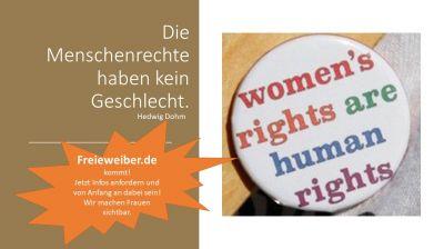 Frauenrechte sind Menschenrechte