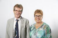 Zwei neue Vorstandsmitglieder (v.l.): Diözesan-Referent Norbert Kößmeier und Anette Kempf vom Altenwerk der Erzdiözese Freiburg