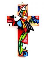 In Handarbeit werden Artikel wie dieses Holzkreuz in Entwicklungsländer gefertigt.