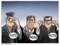 Schweigen, Wegsehen und Weghören von Medien, Justiz und Politik