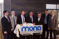 Enthüllung des neuen MONA Logos im Rathaus der Stadt Kempten