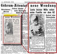 """Recherchen zeigten: der Artikel stammte tatsächlich aus dem Heft """"Nachrichten für die Truppe"""" vom 2.1.1945"""