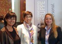 v.l.: Prof. Dr. Katrin Hansen, Ministerin Barbara Steffens und Claudia Obmann (Moderation)