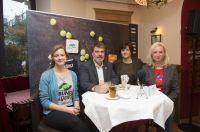 Podium der KOSTBAR Lebensmitteldebatte zum Frühstück mit Myriam Rapior, Michael Thews, Dr. Sabine Eichner und Ute Welty (v.l.n.r.)