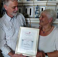 Rumänisches Ehrendiplom für die humanitären Aktivitäten von Christel Peters