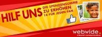 Spendenaktion der WebWide GmbH auf Facebook