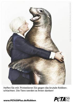 Die neuen PETA50Plus-Motive: Tiere sagen danke! / © Design: Loma Linda, Fotos (Setting): Marc Rehbeck, Postproduction: Elektronisc