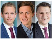 Die drei Macher von ausgewaehlt.eu: Maximilian Nussbaum, Julian Kay, Martin Suchrow (v.l.)