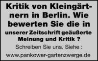 Pankower Blätter zum Kleingartenwesen und Kleingartenrecht (Liebesgrüße vom Gartenzwerg)