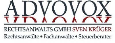 Advovox Rechtsanwalts GmbH Sven Krüger, Arkonastr. 45-49, 13189 Berlin