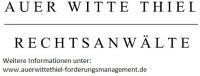 Rechtsanwälte Auer Witte Thiel informieren über Abtretungsvereinbarung