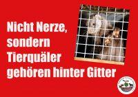 """""""Nicht Nerze, sondern Tierquäler gehören hinter Gitter"""" - Demo in Münster 09.03.2012"""