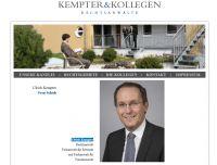 Webseite der Anwaltskanzlei Kempter und Kollegen