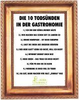 Die 10 Todsünden in der Gastronomie und Hotellerie - eine Zusammenstellung des Werbetherapeuten Alois Gmeiner