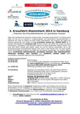 2. Kreuzfahrt-Stammtisch in Hamburg