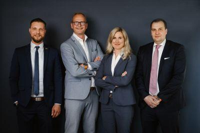 v.l.n.r. Alexander Michalsky, Dirk Steeger, Dagmar König, Roman Kerber (© Pressefotos AH-König, Abdruck honorarfrei)