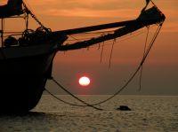 Ein romantischer Sonnenaufgang auf dem Zweimaster Lutgerdina