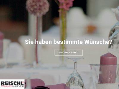 Reischl Speisekartenmanufaktur - Ihr Experte für Speisekarten und Menükarten