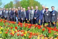 Die offiziellen Vertreter zeigten sich von der Blütenpracht der Landesgartenschau Zülpich 2014 begeistert.
