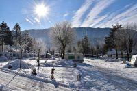Camping-Winter bei Schluga im Kärntner Gailtal