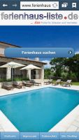 Ferienhaus-Portal für mobile Seiten und Tablets