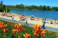 Das Strandbad gehört zu den Highlights im Seepark Zülpich.