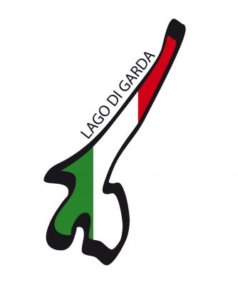 Der Gardasee-Aufkleber in den italienischen Nationalfarben!