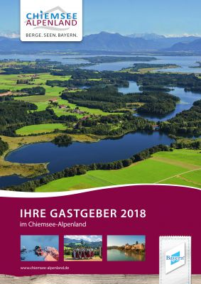 Titelseite des neuen Gastgeberverzeichnisses 2018 für die Region Chiemsee-Alpenland