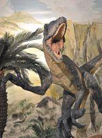 Jurassic Park läßt grüßen: Der Raubsaurier Deinonychus im Wattenmeer Besucherzentrum Wilhelmshaven