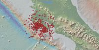 Karte von Nachbeben (Photo: OVSICORI)