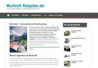 Webseite wurfzelt-ratgeber.de