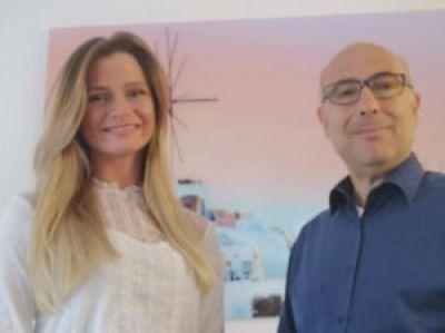 Jana Nethert (Griechenland Reisen) und Dimitrios Zachos (Ellasnet)