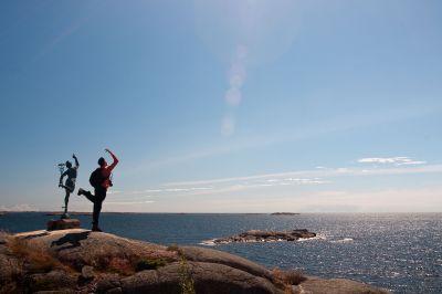 Relaxen an der finnischen Küste