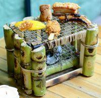 Liebe zum Detail: der von Kevin McCrae entworfene Miniatur-Grill aus Zuckerrohr. Foto: Privat