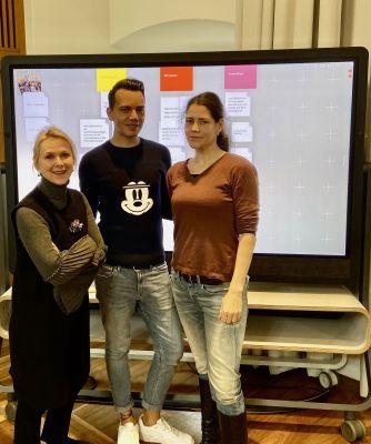Suzann Heinemann, Wolf-Thomas Karl und Anne Seubert - Organisatoren des Green Tourism Camp 2020 (v.l.n.r.).