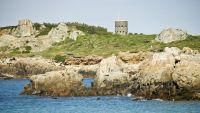 Aussicht auf die L'Ancresse-Bucht im Norden von Guernsey