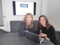 v.l.n.r.: Antje Pflug (HotelNetSolutions) und Lea Jordan (Verbandsgeschäftsführerin HSMA Deutschland e.V.)
